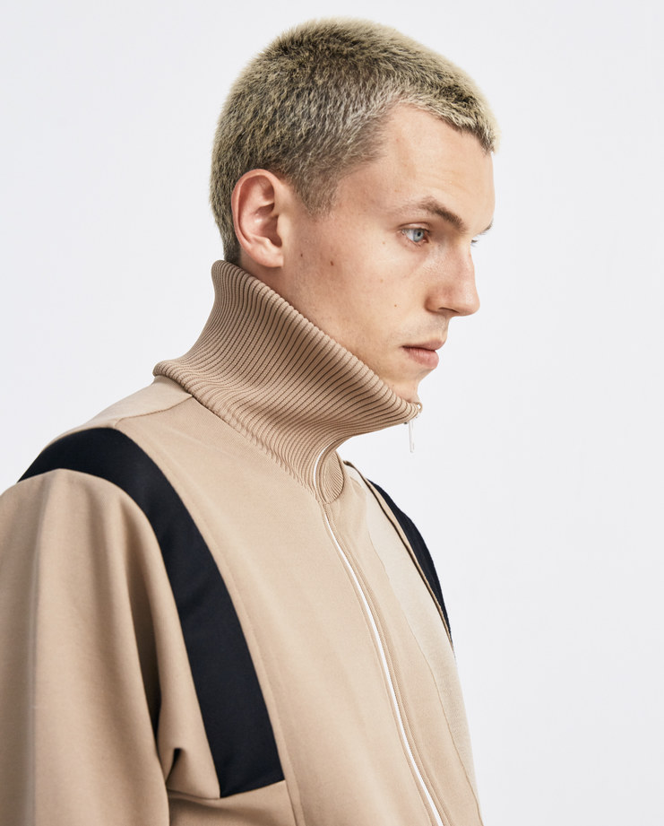 Maison Margiela Taupe Sweat jacket S50HG0001 autumn winter collection menswear zip jumper Machine-A machine A SHOWstudio jumpers jackets