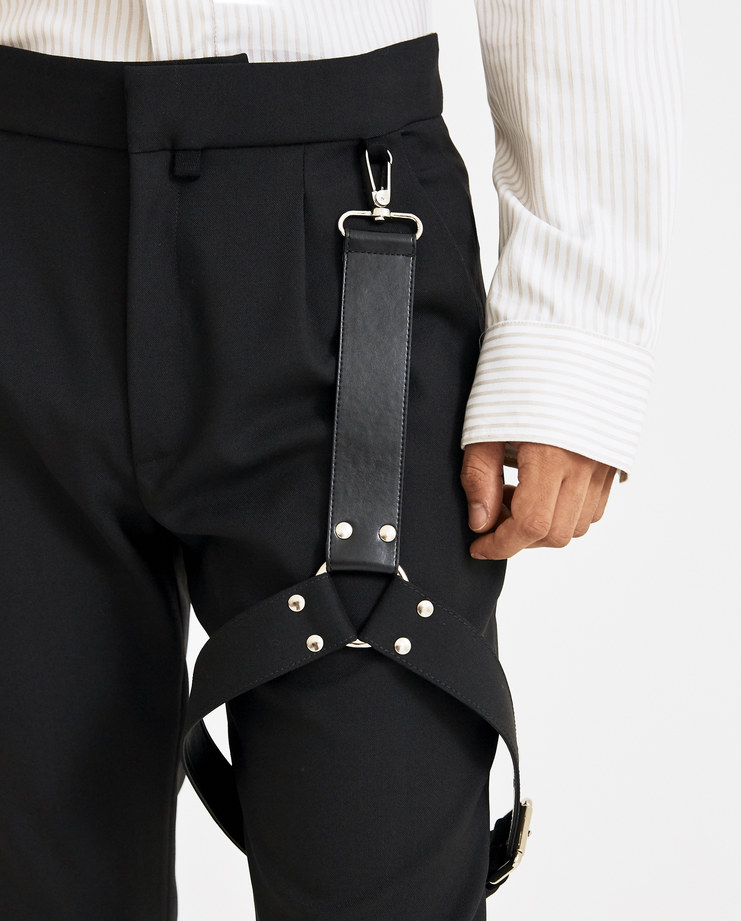ALYX Black Bondage Suitpants Machine-A Machine A SHOWstudio A/W 18 harness leather alxy buckled