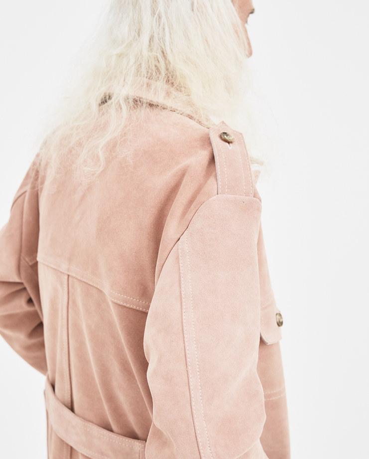 Martin Asbjørn Dust Rose Erik Field Jacket FW18.005 aw 18 autumn winter collection Machine A Machine-A SHOWstudio menswear jackets pink coat trench coats david gant