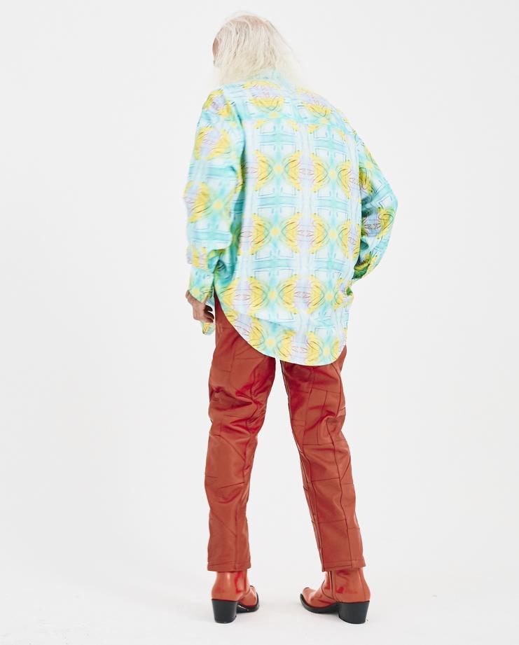 Martin Asbjørn Printed Dave Silk Shirt Machine-A Machine A SHOWstudio Teenage Dirtbag A/W 18 martin asbjorn buttoned shirt