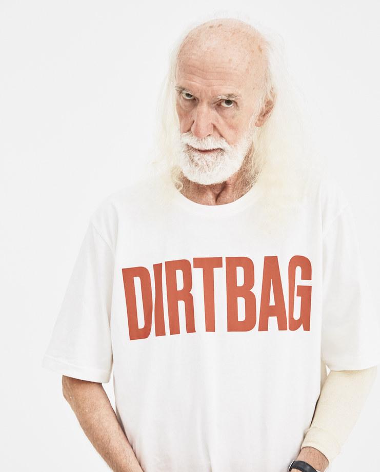 Martin Asbjørn White Dirtbag T-shirt Machine-A Machine A SHOWstudio A/W 18 cotton printed graphic tee