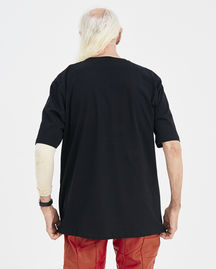 Martin Asbjørn Black Teenage T-shirt Machine-A Machine A SHOWstudio A/W 18 cotton printed graphic tee martin asbjorn