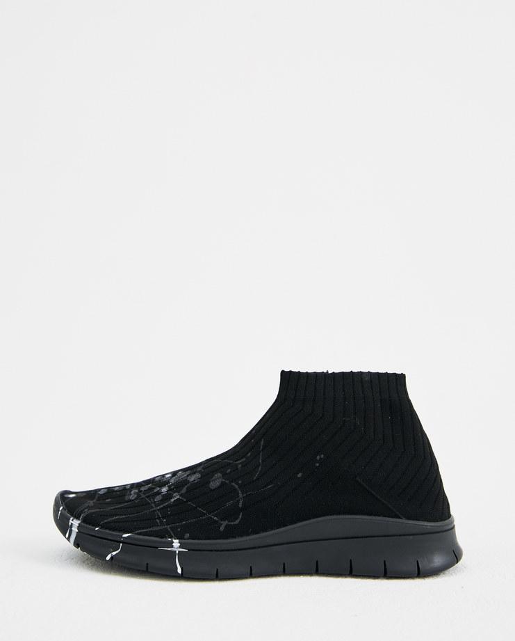 Maison Margiela Black Paint Splatter Sock Shoes S57WS0229 autumn winter 18 collection Machine-A Machine A SHOWstudio mens sneakers