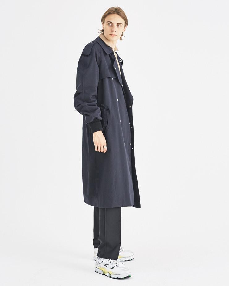 Maison Margiela Dark Blue Trench Coat Machine-A Machine A SHOWstudio A/W 18 S50AH0045 menswear long trench jacket coats navy raincoat jackets