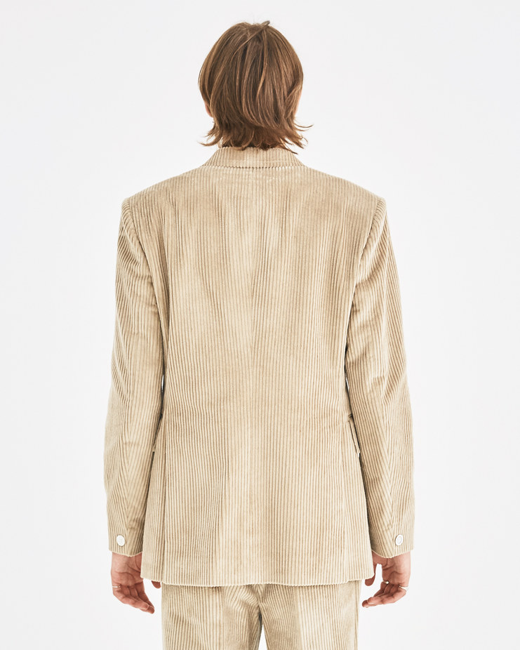 Maison Margiela Beige Corduroy Blazer Jacket Machine-A Machine A SHOWstudio A/W 18 S50BN0347 menswear jackets blazers