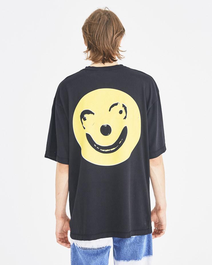 Liam Hodges Black Big Blobby T-Shirt LH-AW18-113 autumn winter collection Machine-A Machine A SHOWstudio menswear tee tops tshirts