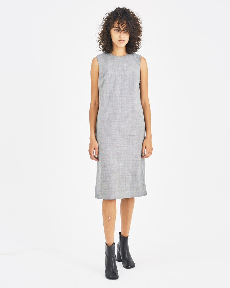 Maison Margiela Grey Checked Dress Machine-A Machine A SHOWstudio A/W 18 S51CT0973 womenswear dresses check back detail