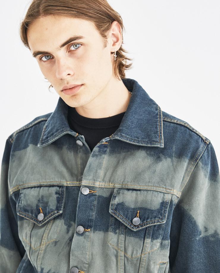 Liam Hodges Green Hamburglar Denim Jacket LH-AW18-102 autumn winter collection Machine-A Machine A SHOWstudio menswear jackets