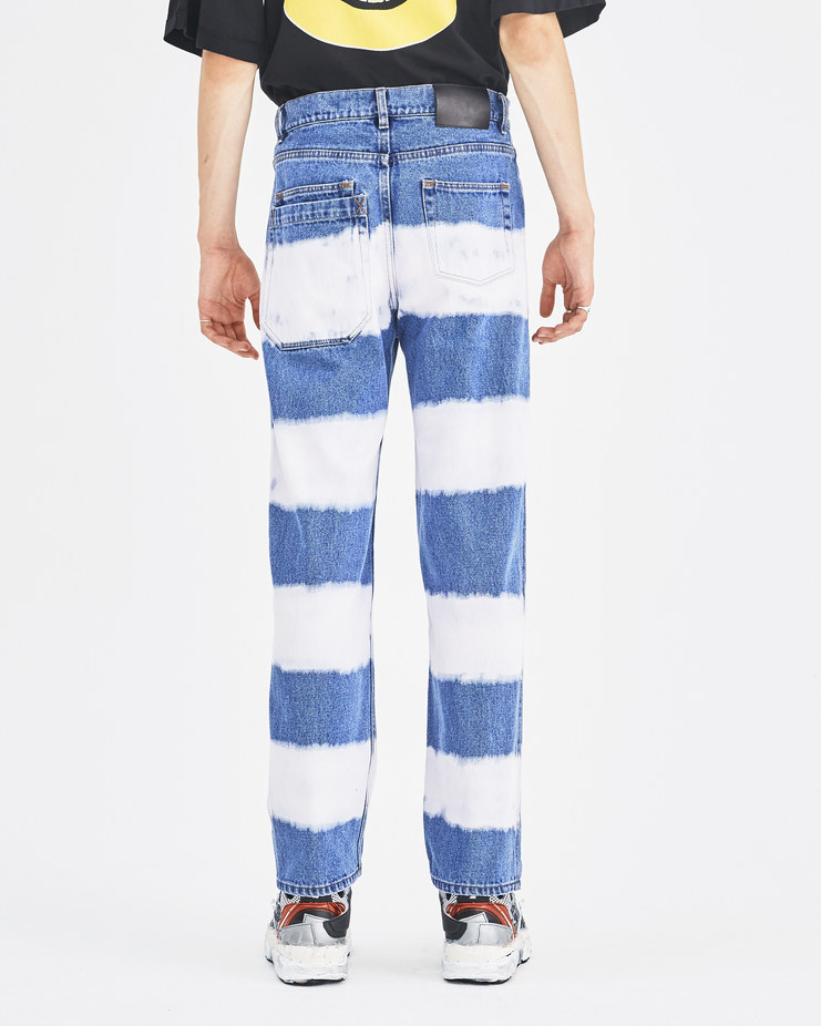 Liam Hodges Pink Hamburglar Jeans Machine-A Machine A SHOWstudio A/W 18 LH-AW18-120 menswear denim trousers bleaching effect