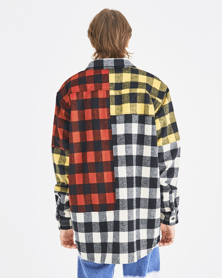 Liam Hodges Red Beetlejuice Oversized Shirt LH-AW18-103 autumn winter collection Machine-A Machine A SHOWstudio menswear shirts