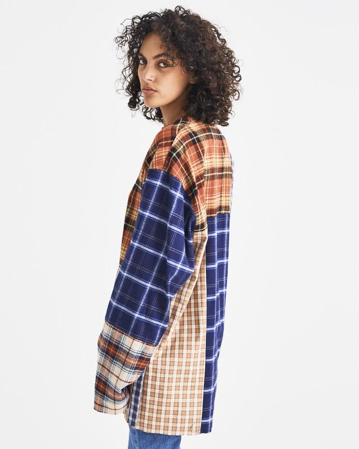 AMBUSH Nobo Patchwork Shirt Machine-A Machine A SHOWstudio A/W 18 multicolored tartan long sleeves longsleeve v-neck