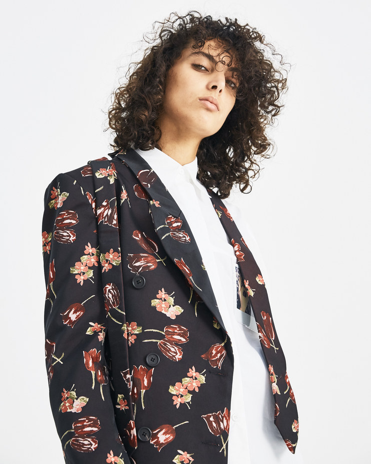 DELADA Floral Half Blazer with Tie DW4BLZ3 machine-A machine a SHOWstudio womenswear autumn winter 18 aw 18 womens blazers jackets suit