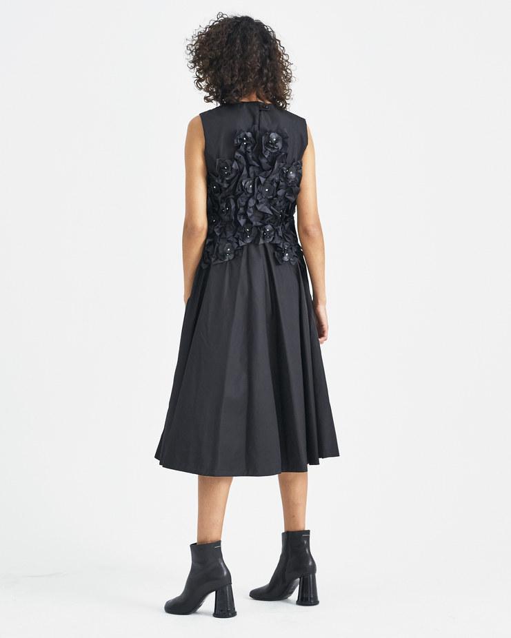 Moncler Genius 6 Moncler Genius Noir Kei Ninomiya Sleeveless Floral Appliqué Dress Machine-A Machine A SHOWstudio limited edition collection