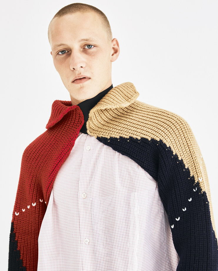 Raf Simons Black Knitted Sleeves with Elastic 182-839-50002-09944 Machine-A Machine A SHOWstudio A/W 18 AW18 knitted elastic sleeves