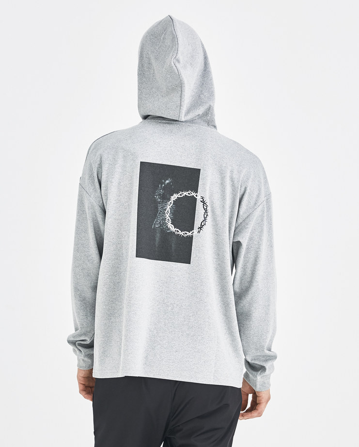 ALYX Grey Dancing Girl Printed Hoodie AVMTS0003A089 Machine-A MachineA SHOWstudio AW 18 alix matthew williams mens hoodies hooded tshirt
