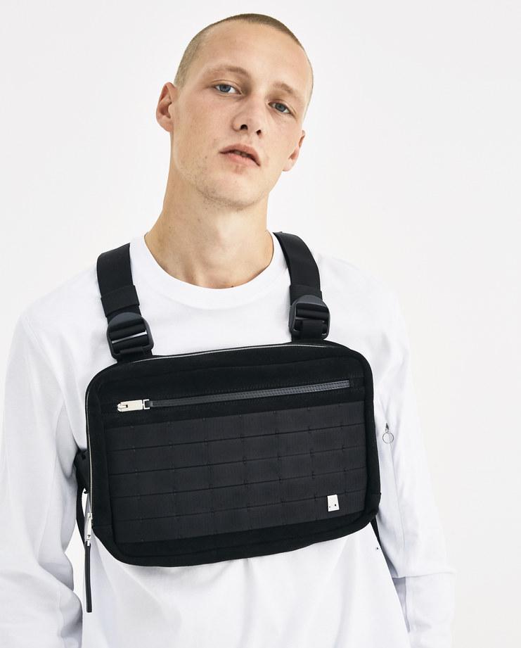 ALYX Black Zipped Chest Rig AAMBA0008B001Machine-A Machine A SHOWstudio alix matthew williams front bags bag unisex