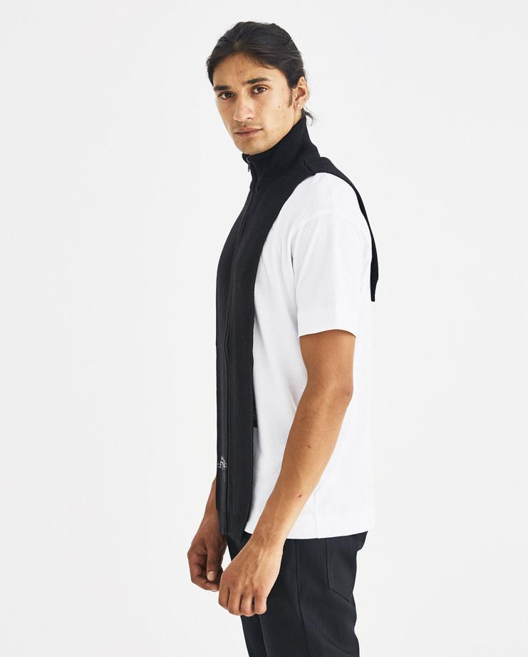 A-COLD-WALL* Black Zip Panel Scarf CWY113 Machine-A Machine A SHOWstudio A/W 18 aw18 virgin wool high neck scarf