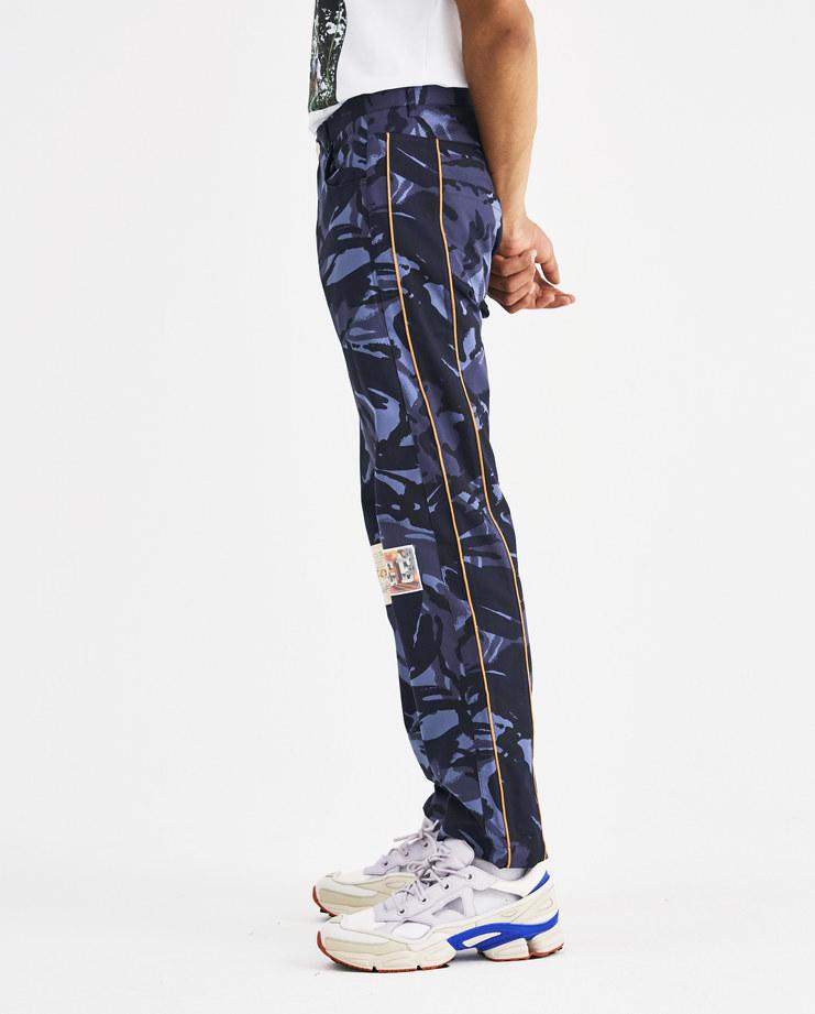 Martine Rose Blue Camouflage Trousers MRAW18-821 Machine-A Machine A SHOWstudio A/W 18 aw18 camo trouser pants straight leg orange