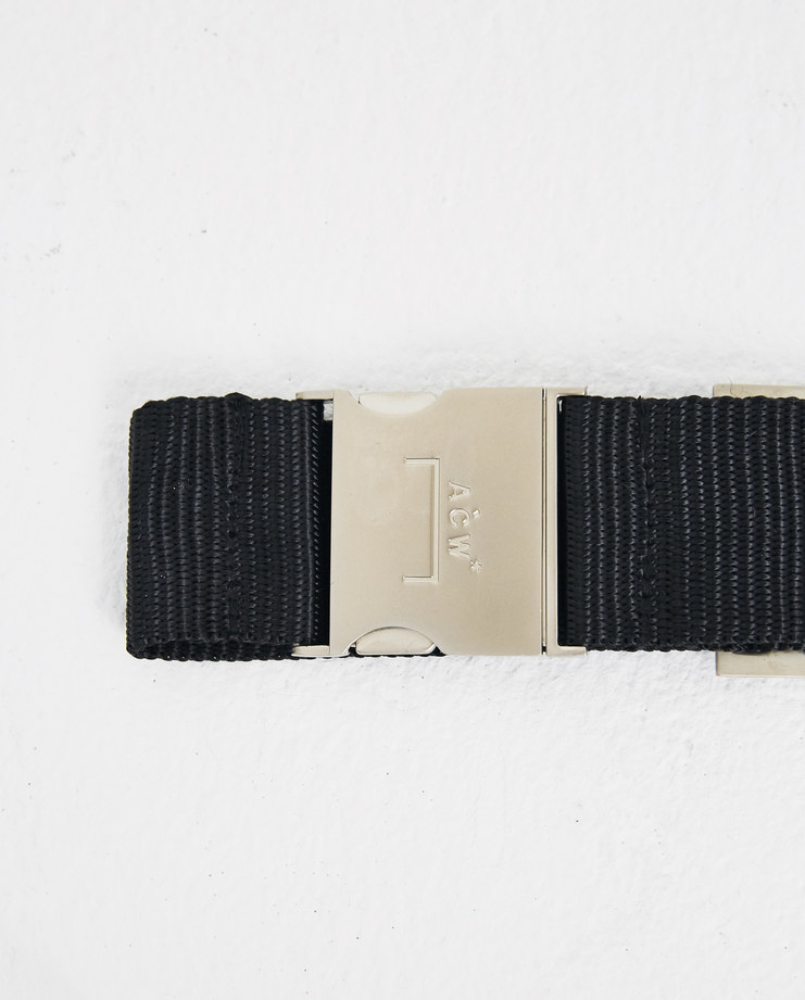 A-COLD-WALL* Black Industrial Webbing Belt WB1 Machine-A Machine A SHOWstudio A/W 18 aw18 snap closure logo embroidery