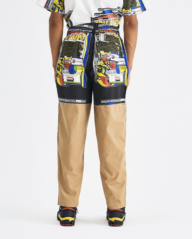 Cav Empt Black Structures Print Beach Trousers CES14PT12 Machine-A Machine A SHOWstudio A/W 18 aw18 pants chino brown graphic print multicolor relaxed fit