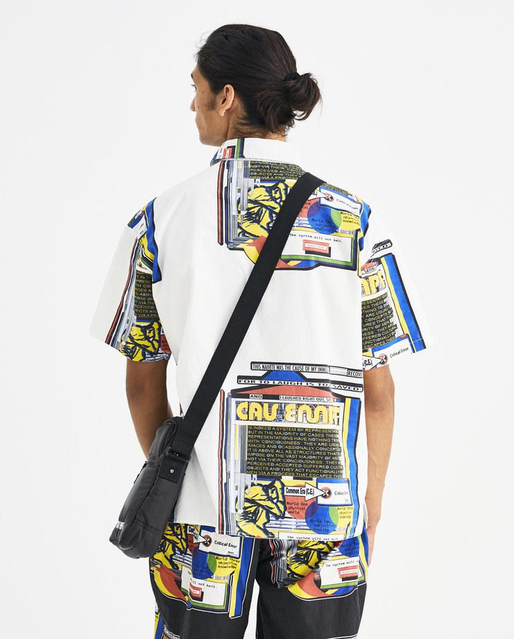 Cav Empt Black Puffer Shotta Bag CES14G11 Machine-A Machine A SHOWstudio A/W 18 aw18 logo stitch zipped shoulder bag