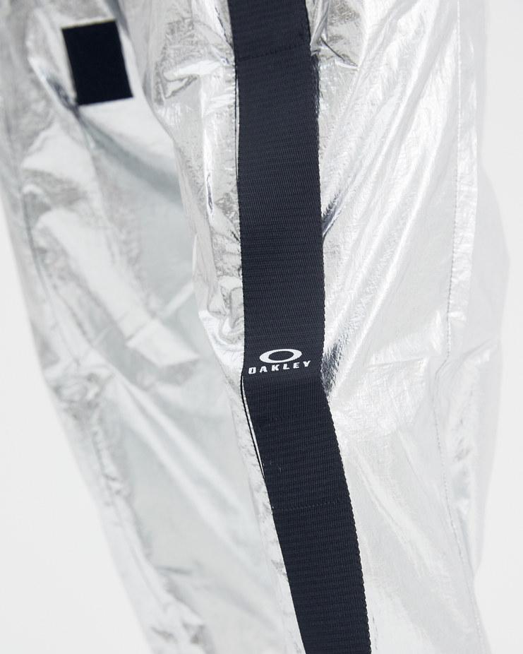 Oakley by Samuel Ross Silver Metallic Jogging Trouser 422487 Machine-A Machine A SHOWstudio A/W 18 aw18 metal elastic waist jogger pants