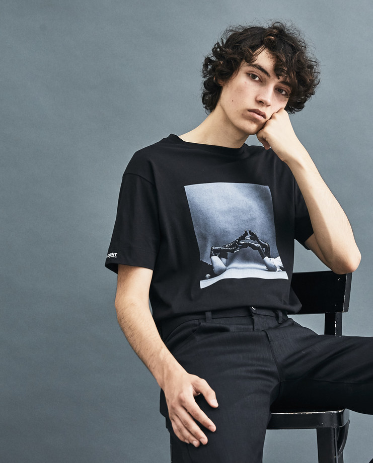 ALYX x SHOWstudio Black Scout and Tallulah T-Shirt AWUTS0001A001 AW 18 capsule collection Machine-A Machine A Nick Knight