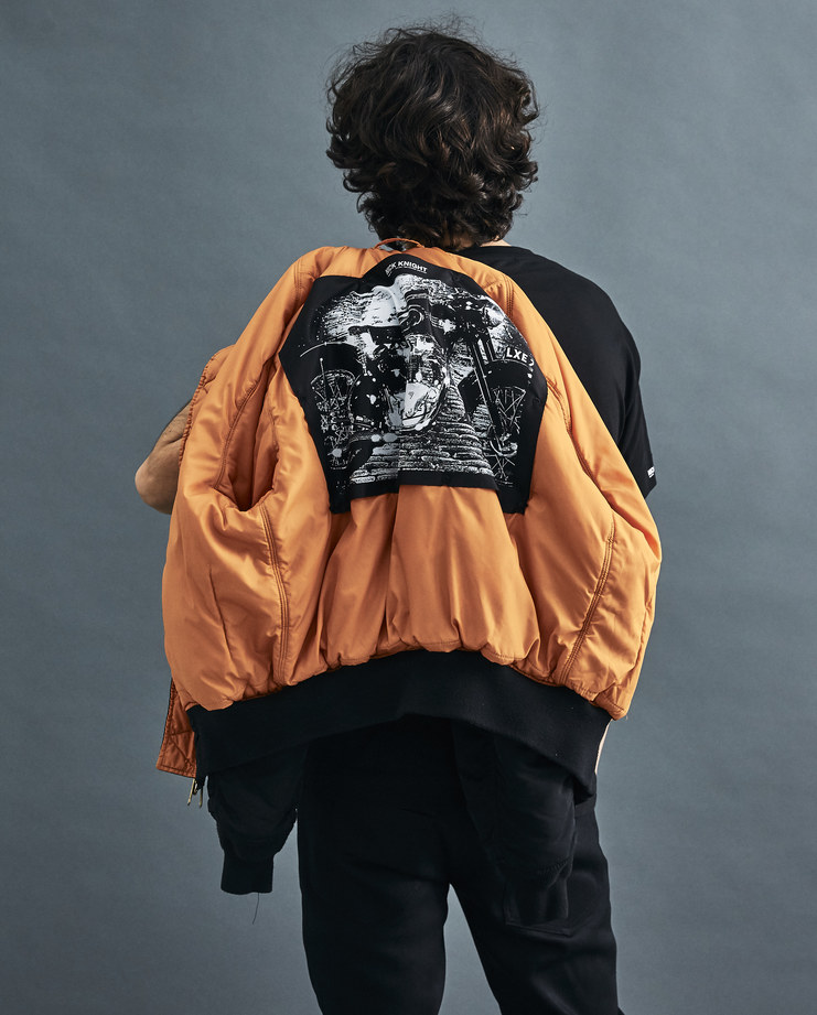 ALYX x SHOWstudio Black Triumph Twin Bomber AWUOU0001A001 Nick Knight Matthew Williams capsule collection unisex bomber jacket