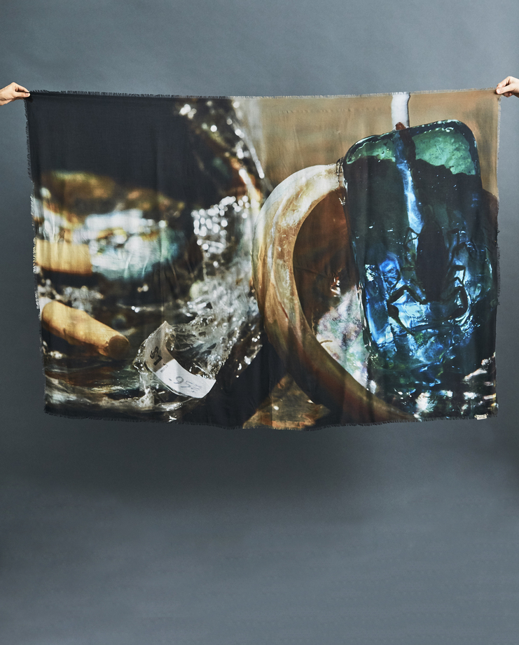 ALYX x SHOWstudio Nick Knight Scarf Machine-A Machine A AW/18 aw18 capsule collection print