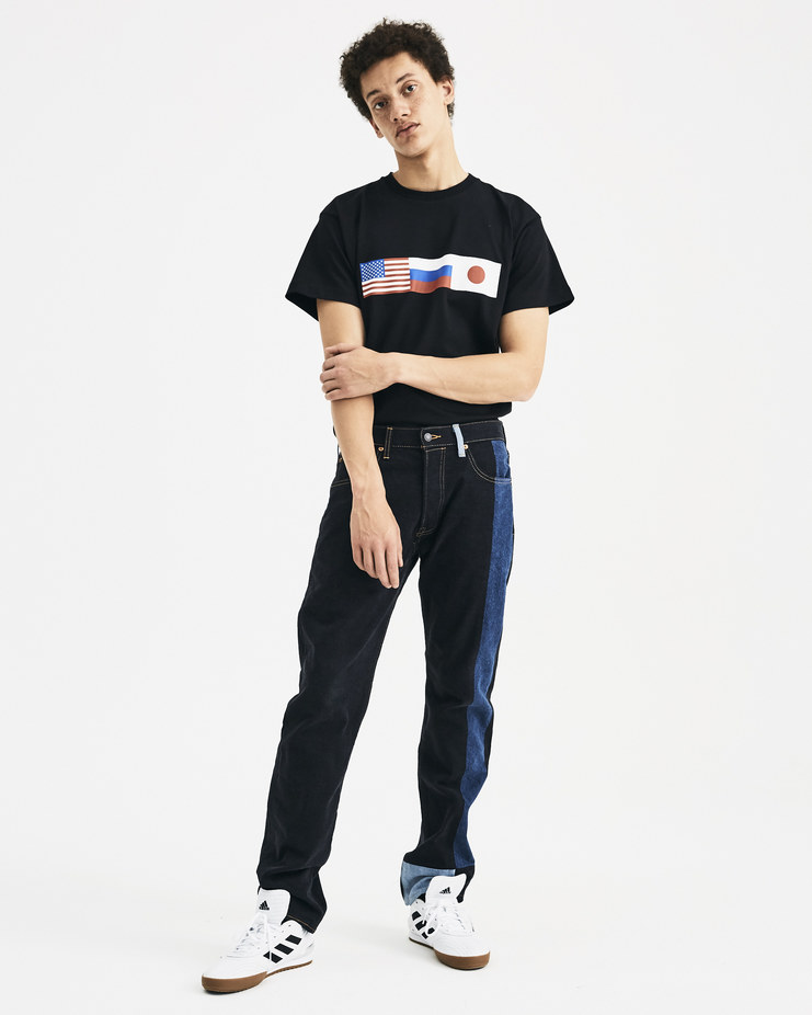Levi's x Gosha Rubchinskiy Black Patchwork Trousers G013P403 AW/18 aw18 collection SHOWstudio Machine-A Machine a denim pants