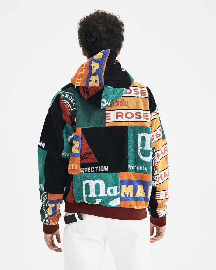 Martine Rose Beermat Hoodie MRAW18-728 A/W 18 SHOWstudio MACHINE-A New Arrivals Menswear A/W 18 AW18 collection mens patches streetwear