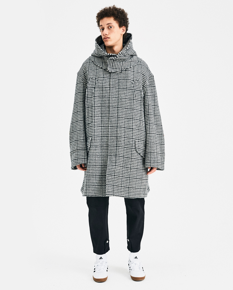 Raf Simmons Padded Parka 182-712-20015-09910 Black White SHOWstudio New Arrivals MACHINE-A Menswear Jackets