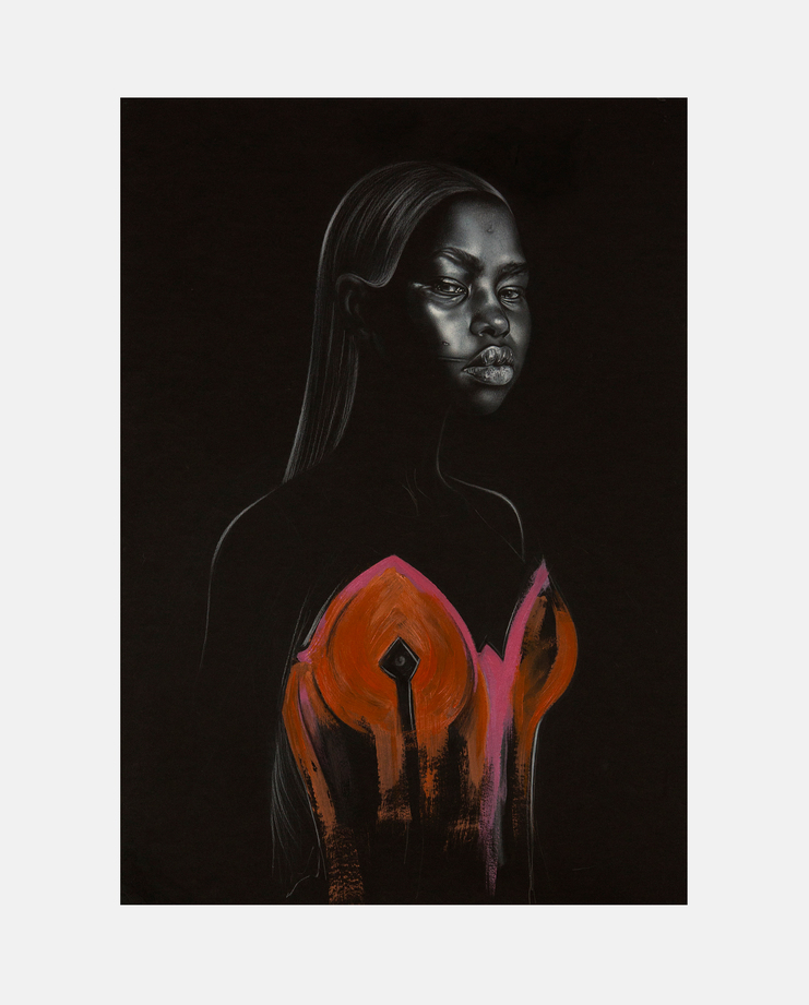 Aweng Chuol, Bex Cassie, Fashion Illustration, 100 years of women exhibition, artwork