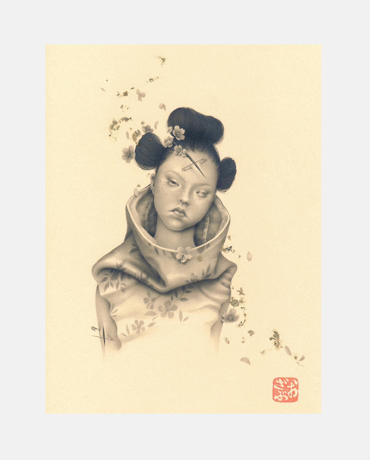 Devon Aoki, Ozabu, Fashion Illustration, 100 years of women exhibition, artwork