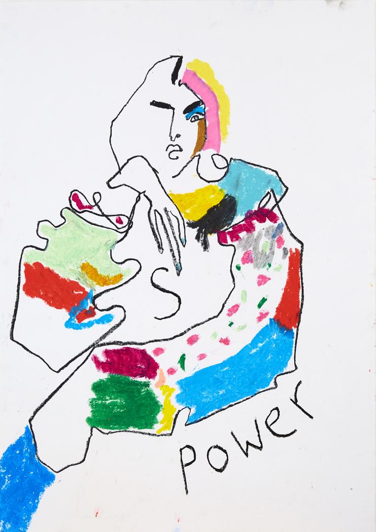 Sanam Sindhi, Helen Bullock, Fashion Illustration, 100 years of women exhibition, artwork