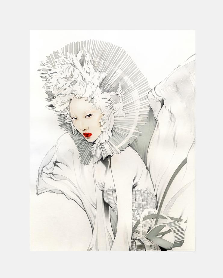 Soo Joo Park, Nuno Da Costa, Fashion Illustration, 100 years of women exhibition, artwork