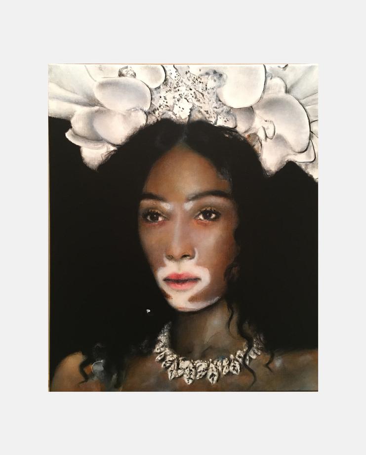 Winnie Harlow, Antoine Cordet, Fashion Illustration, 100 years of women exhibition, artwork