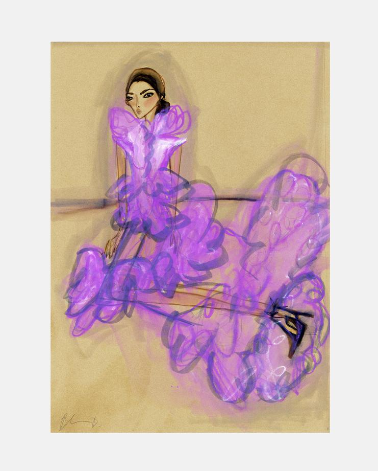Yasmin Le Bon, Blair Breitenstein , Fashion Illustration, 100 years of women exhibition, artwork