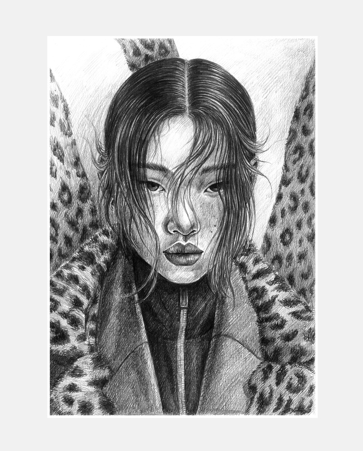 Yoon Young Bae, Dylan Qin, Fashion Illustration, 100 years of women exhibition, artwork