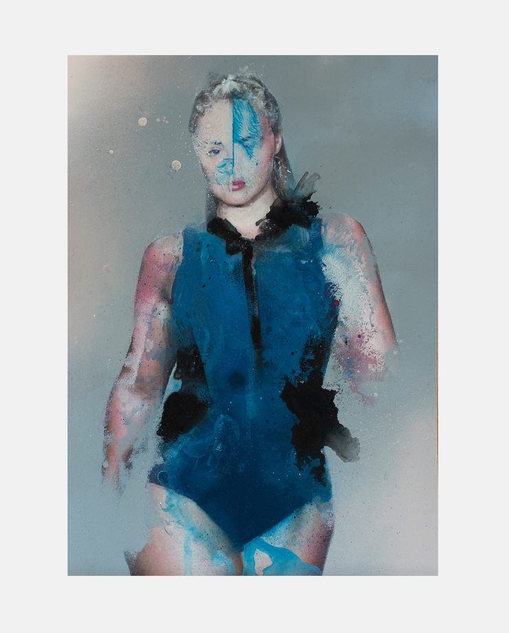 Iskra Lawrence, Marco Rea, Fashion Illustration, 100 years of women exhibition, artwork