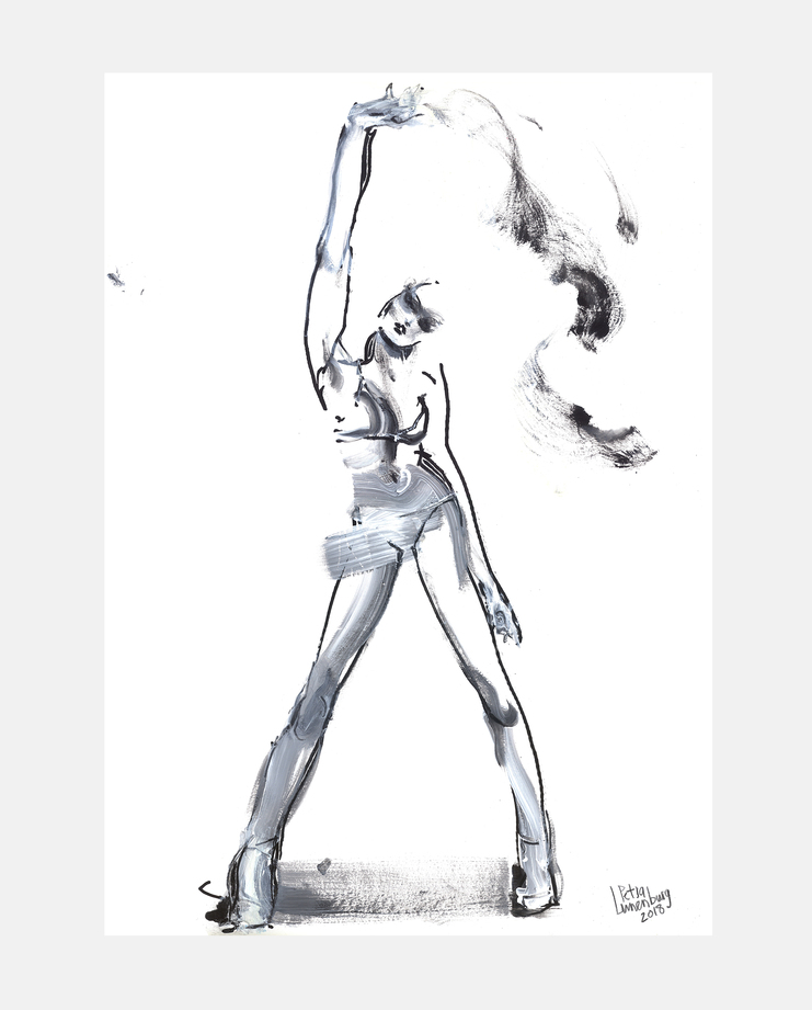 Joan Smalls, Petra Lunenburg, Fashion Illustration, 100 years of women exhibition, artwork