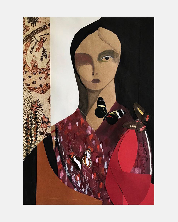 Liya Kebede by Ángel Hernández, Fashion Illustration, 100 years of women exhibition, artwork