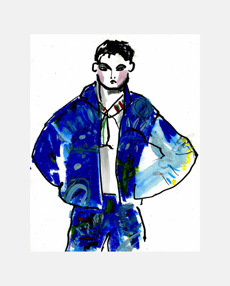 Versace Menswear A/W 13 by Helen Bullock