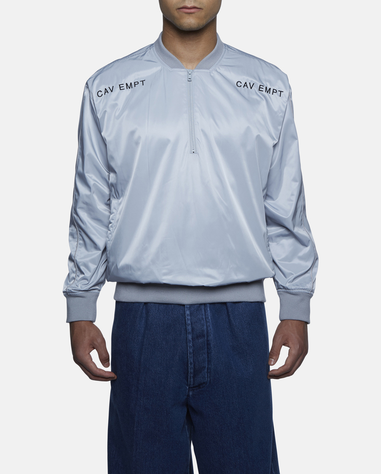 Cav Empt - Blue Half Zipped Bomber Jacket
