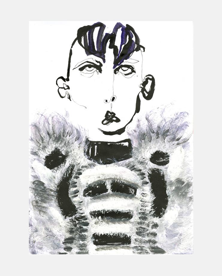Fashion Illustration, Fendi A/W 13 by Fiona Gourlay