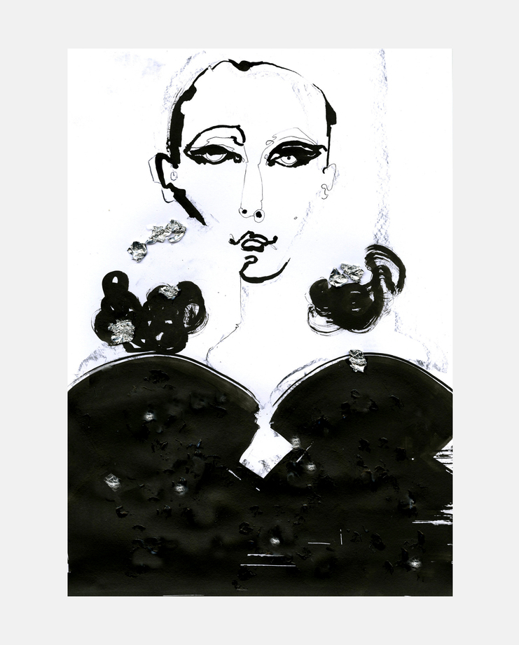 DSquared2 A/W 13 by Fiona Gourlay, fashion illustration