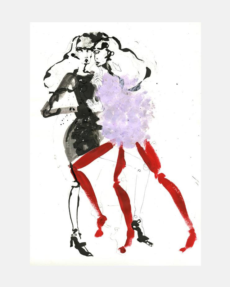 Emilio Pucci A/W 13 by Fiona Gourlay, fashion illustration