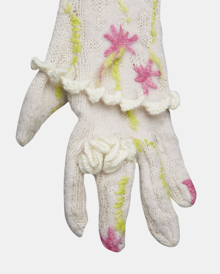Charles Jeffrey Long Knitted Gloves 2016