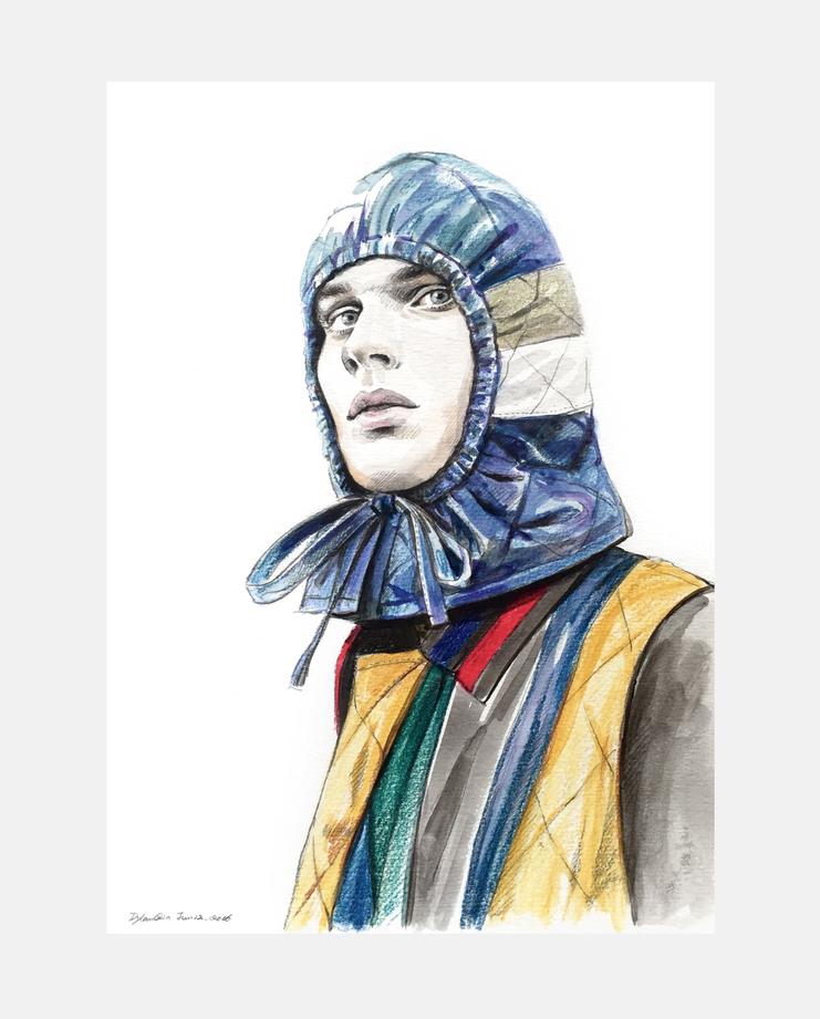 Craig Green S/S 17, Dylan Qin, craig green, fashion illustration, showstudio