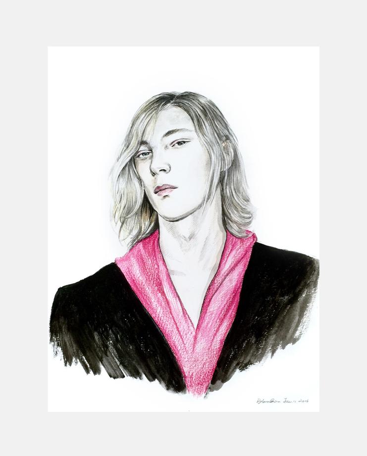 Xander Zhou S/S 17 by Dylan Qin, showstudio, fashion illustration